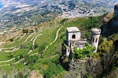 Castelo em Erice Imagem de Stock Royalty Free