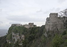 Castelo em Erice, Sicília de Venus fotografia de stock royalty free