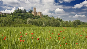 Castelo em Italy fotografia de stock