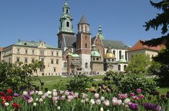 Castelo em Krakow imagem de stock royalty free
