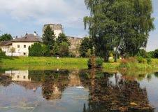 Castelo em Liptovsky Hradok, Eslováquia foto de stock