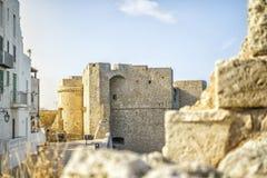Castelo em Monopoli bonito, Itália Foto de Stock Royalty Free