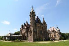Castelo em Moszna fotografia de stock