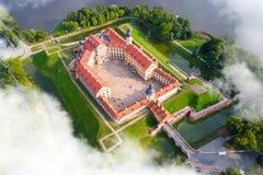Castelo em Nesvizh, região de Minsk, Bielorrússia imagens de stock