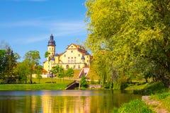 Castelo em Nesvizh, região de Minsk, Bielorrússia imagem de stock