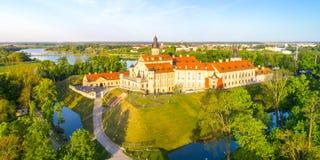 Castelo em Nesvizh, região de Minsk, Bielorrússia imagens de stock royalty free