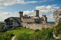 Castelo em Ogrodzieniec, Poland foto de stock