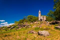Castelo em pouca parte superior redonda, em Gettysburg, Pensilvânia Fotografia de Stock