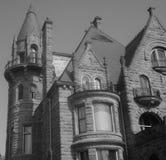 Castelo em preto e branco Fotos de Stock