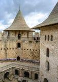 Castelo em Soroca, fortaleza medieval Detalhes arquitetónicos de forte medieval em Soroca Fotografia de Stock Royalty Free