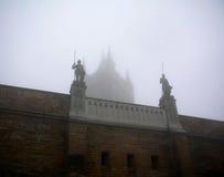 Castelo em Swabian durante o outono, Alemanha de Hohenzollern foto de stock royalty free
