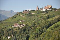 Castelo em Tirol sul Scena Fotografia de Stock Royalty Free