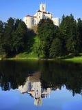 Castelo em Trakoschan, Croatia fotos de stock