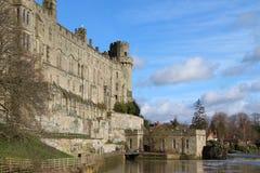 Castelo em um rio Imagem de Stock Royalty Free