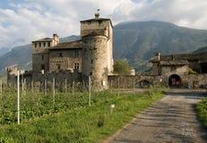 Castelo em val - aosta de d ' Imagem de Stock