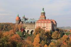 Castelo em Walbrzych-Ksiaz Imagens de Stock Royalty Free