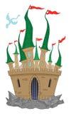 Castelo engraçado ilustração do vetor