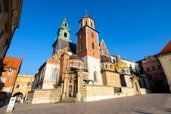 Castelo famoso de Wawel do marco Foto de Stock Royalty Free