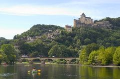 Castelo feudal de Castelnaud Imagens de Stock Royalty Free