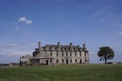 Castelo francês e um soldado no forte Niagara Foto de Stock Royalty Free