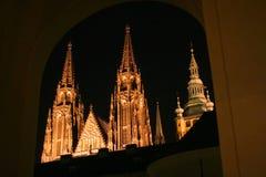 Castelo gótico de Praga fotografia de stock royalty free