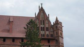 Castelo gótico no marienburg de Malbork na margem direita do rio Nogat Imagem de Stock
