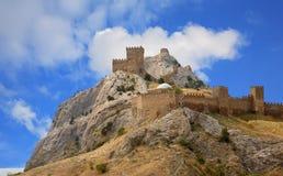 Castelo Genoese de Sudak Foto de Stock