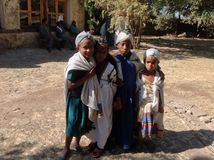 Castelo Gondar Etiópia de Fasil Foto de Stock