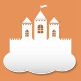 Castelo grande no estilo do corte do papel Imagem de Stock