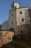 Castelo gótico Malenovice com porta da entrada Imagem de Stock Royalty Free