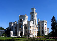 Castelo Hluboka Imagens de Stock Royalty Free