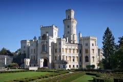 Castelo Hluboka nad Vltavou Foto de Stock Royalty Free