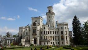 Castelo Hluboka nad Vltavou Fotos de Stock