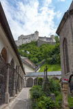 Castelo Hohensalzburg, Salzburg, Áustria Imagens de Stock
