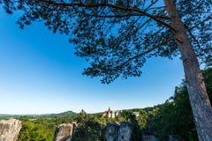 Castelo Hruba Skala Foto de Stock Royalty Free