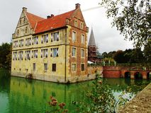Castelo Huelshoff (castelo principal) Imagem de Stock