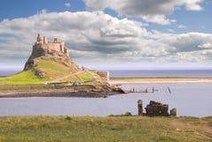 Castelo III de Lindisfarne Imagem de Stock Royalty Free