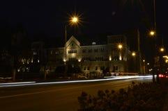Castelo imperial de Poznan na noite imagens de stock