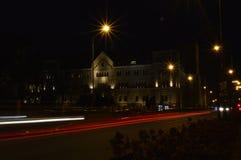 Castelo imperial de Poznan na noite foto de stock royalty free