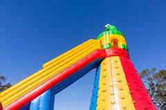 Castelo inflável do campo de jogos Foto de Stock Royalty Free