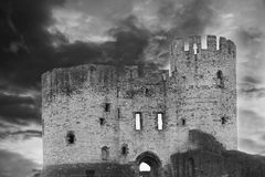Castelo inglês, Dudley do 8o século fotografia de stock royalty free