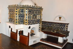 Castelo interno do farelo, casa de Dracula, Brasov, a Transilvânia fotos de stock royalty free
