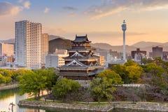 Castelo Japão de Hiroshima imagens de stock royalty free