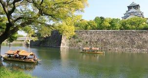 Castelo Japão de Osaka fotos de stock