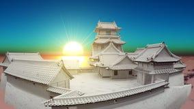 Castelo japonês Foto de Stock