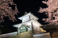 Castelo Kanazawa Japão da flor de cerejeira e do Kanazawa Foto de Stock