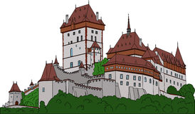 Castelo Karlstein Foto de Stock Royalty Free