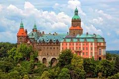 Castelo Ksiaz em Walbrzych, Poland Fotos de Stock Royalty Free