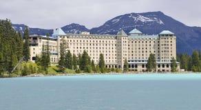 Castelo Lake Louise Imagens de Stock Royalty Free