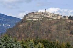 Castelo Landskron, alpes, Áustria Fotografia de Stock